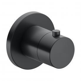 Keuco IXMO Thermostatarmatur, rund schwarz chrom gebürstet