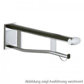 Keuco Plan Care Wandstützgriff WC silber eloxiert/schwarzgrau, Ausladung: 700 mm