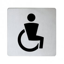 Keuco Plan Türschild Symbol Behinderte silber eloxiert