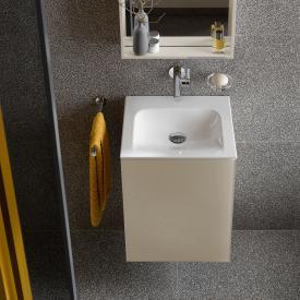 Keuco X-Line Handwaschbeckenunterschrank mit 1 Tür Front cashmere / Korpus cashmere seidenmatt