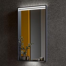 Keuco X-Line LED-Spiegel anthrazit seidenmatt, warmweiß, ohne Spiegelheizung