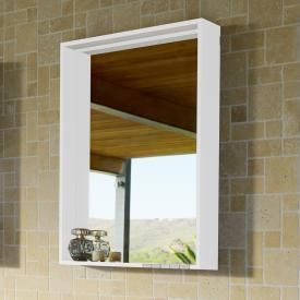 Keuco X-Line Spiegel mit DALI-LED-Beleuchtung weiß seidenmatt, ohne Spiegelheizung