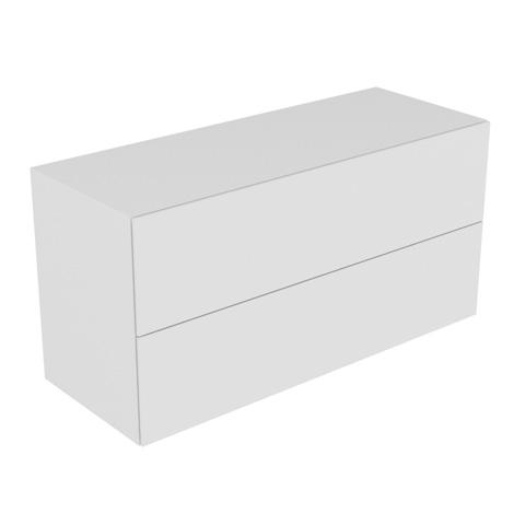 keuco edition 11 sideboard mit 2 ausz gen und led innenbeleuchtung front lack wei hochglanz. Black Bedroom Furniture Sets. Home Design Ideas