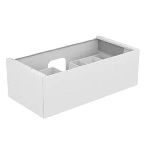 keuco edition 11 waschtischunterschrank mit 1 auszug front glas wei korpus lack wei seidenmatt. Black Bedroom Furniture Sets. Home Design Ideas