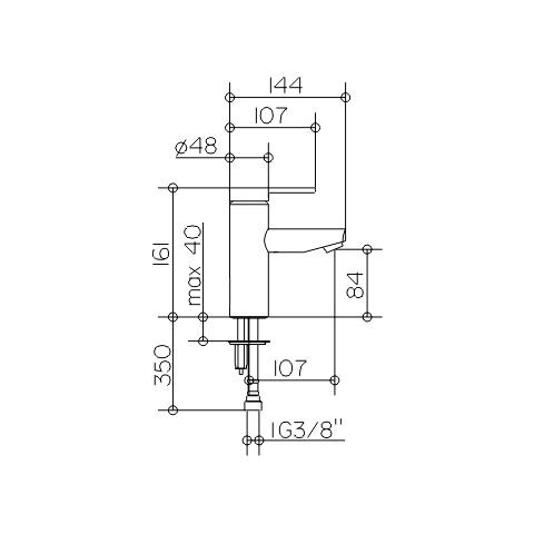 keuco plan blue einhebel waschtischmischer 90 ohne ablaufgarnitur 53902010100 reuter. Black Bedroom Furniture Sets. Home Design Ideas