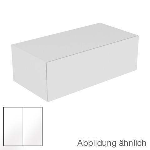 Keuco Edition 11 Sideboard mit 1 Auszug Front Glas weiß satiniert/Korpus Lack weiß seidenmatt