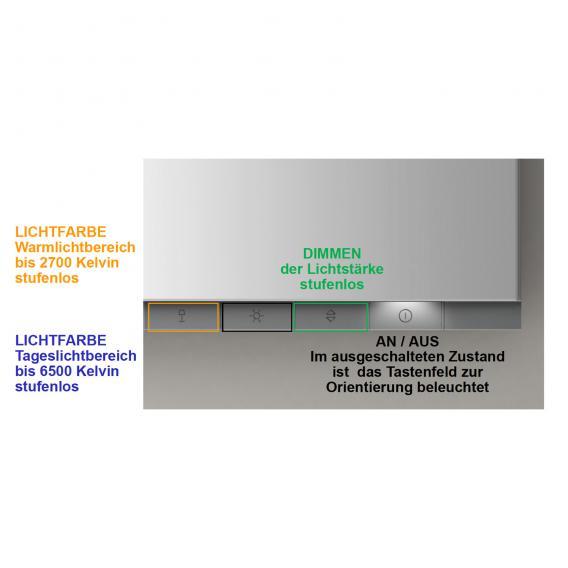 Keuco EDITION 400 Aufputz-Spiegelschrank Farbtemperatur einstellbar, ohne Spiegelheizung