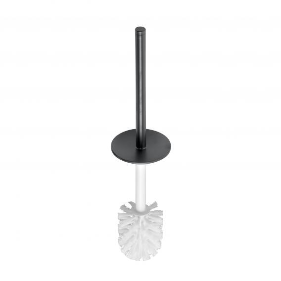 Keuco Edition 400 Ersatz-Toilettenbürste mit Griff schwarz chrom gebürstet/weiß