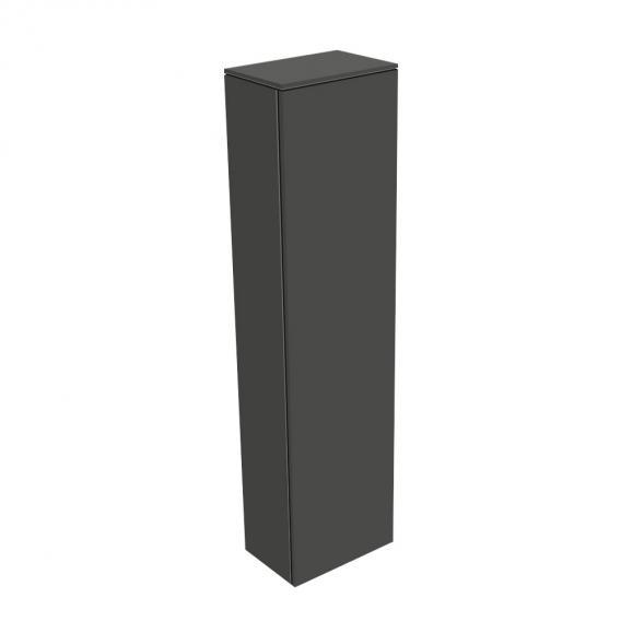 Keuco Edition 400 Hochschrank mit 1 Tür und 1 Regal Front anthrazit struktur/Korpus anthrazit struktur