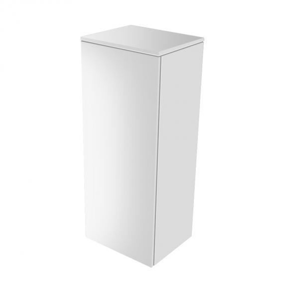 Keuco Edition 400 Mittelschrank mit 1 Tür Front: weiß hochglanz / Korpus: weiß hochglanz