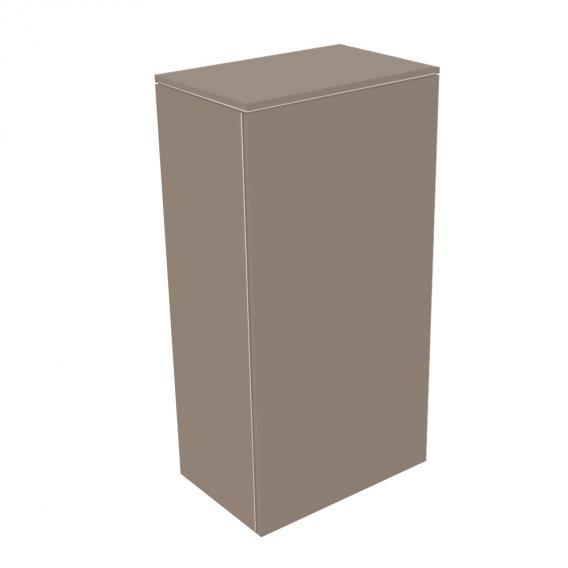 Keuco Edition 400 Mittelschrank mit 1 Tür und 1 Regal Front: trüffel struktur / Korpus: trüffel struktur