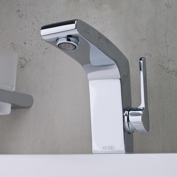 Keuco Elegance Einhebel-Waschtischmischer 120 mit Ablaufgarnitur