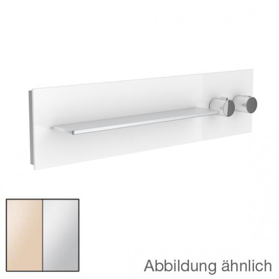 Keuco meTime_spa Thermostatbatterie, für 1 Verbraucher, Griffe rechts, Ablage links Glas kaschmir