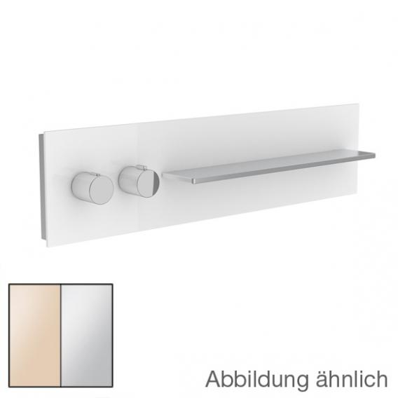 Keuco meTime_spa Thermostatbatterie DN 20, für 2 Verbraucher, Griffe links, Ablage rechts Glas kaschmir