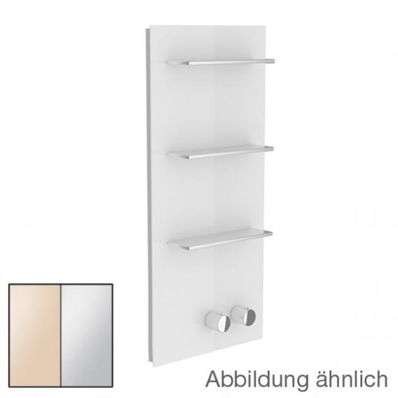 Keuco meTime_spa Thermostatbatterie, für 2 Verbraucher, Griffe rechts Glas kaschmir satiniert