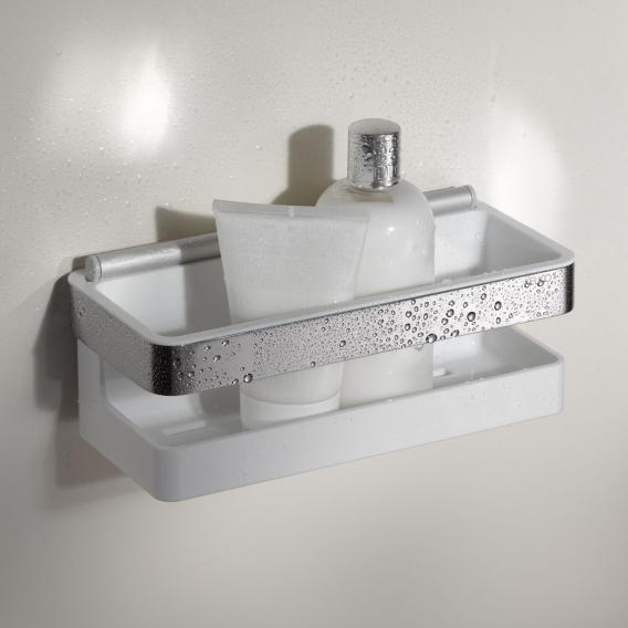 Keuco Moll Duschkorb mit integriertem Glasabzieher chrom/weiß