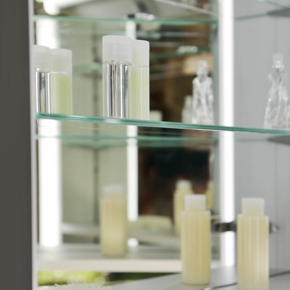 Keuco Royal Lumos Aufputz-Spiegelschrank mit LED-Beleuchtung mit 3 Türen