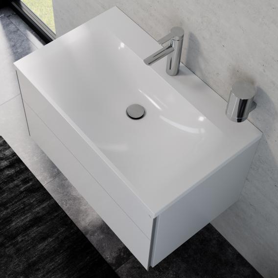 Keuco Royal Reflex Waschtisch mit Waschtischunterschrank mit 1 Auszug Front weiß hochglanz / Korpus weiß hochglanz