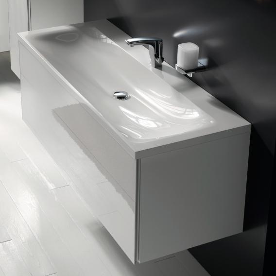 keuco royal reflex waschtischunterschrank mit 1 auszug front glas wei korpus wei glanz. Black Bedroom Furniture Sets. Home Design Ideas