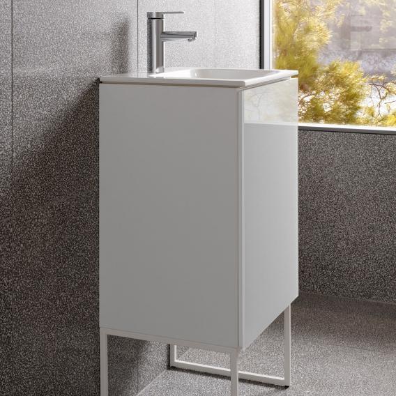 Keuco X Line Handwaschbeckenunterschrank Mit 1 Tur Front Weiss Korpus Weiss Seidenmatt 33122300001 Reuter
