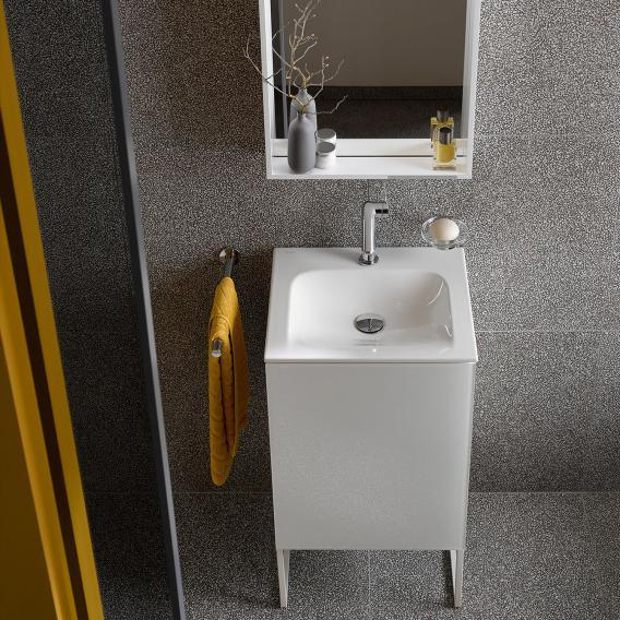 Keuco X-Line Keramik-Handwaschbecken mit 1 Hahnloch, ohne Überlauf