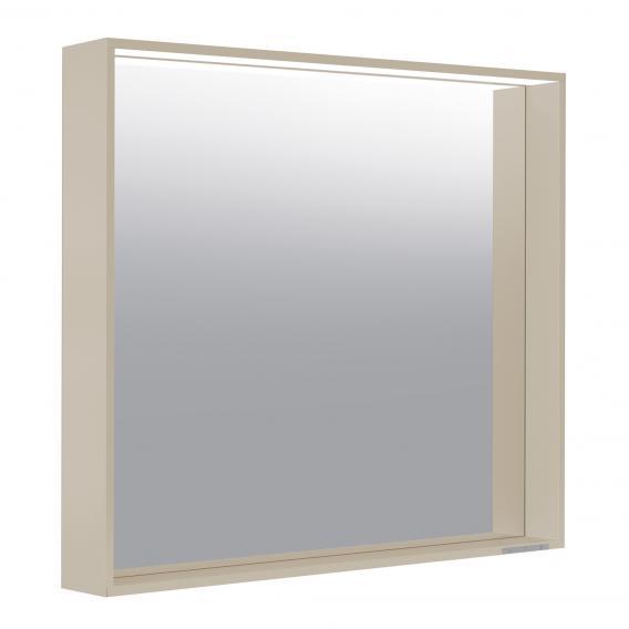 Keuco X-Line Spiegel mit LED-Beleuchtung cashmere seidenmatt, warmweiß, ohne Spiegelheizung