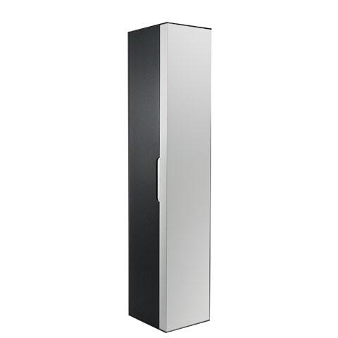 Keuco Edition 300 Hochschrank mit 1 Tür Front anthrazit/Korpus weiß