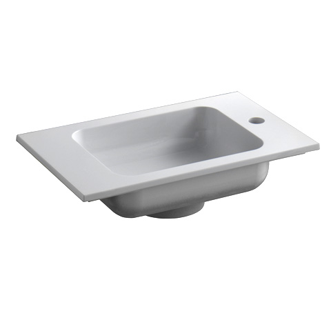 Keuco Edition 300 Mineralguss Handwaschbecken mit 1 Hahnloch