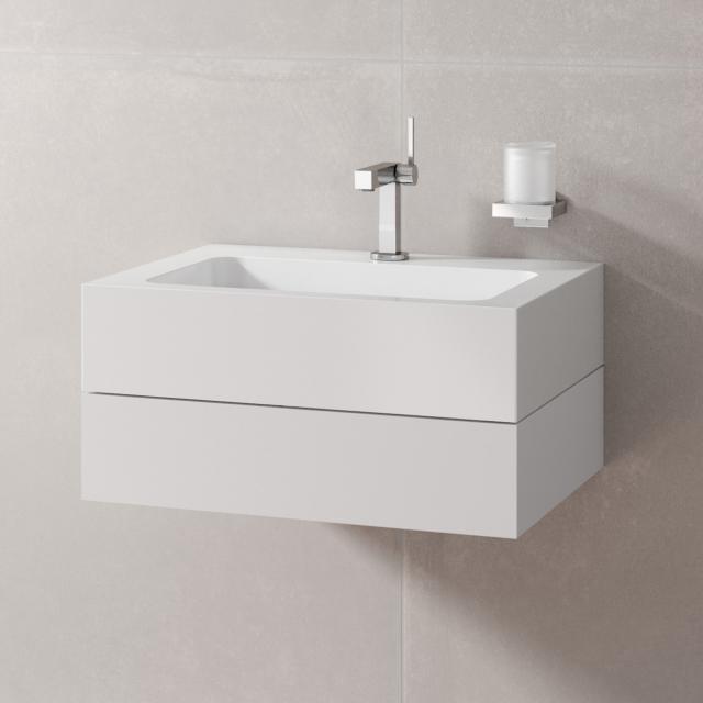 Keuco Edition 300 Waschtischunterschrank für Aufsatzwaschtisch Front weiß/Korpus weiß