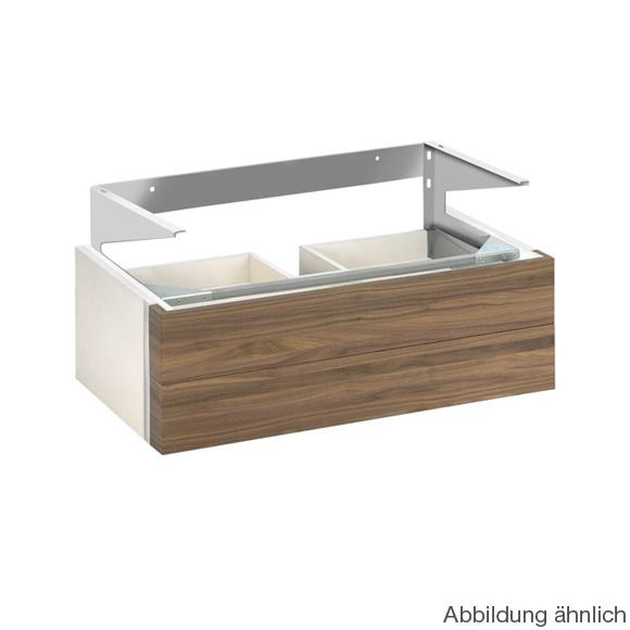 Keuco Edition 300 Waschtischunterschrank für Aufsatzwaschtisch mit 2 Auszügen Front weiß/Korpus weiß