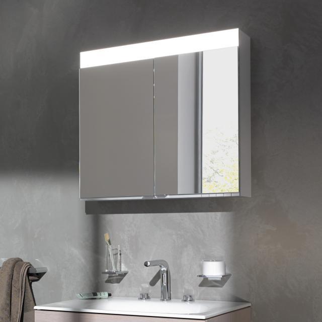 Keuco Edition 400 Aufputz-Spiegelschrank mit DALI-LED-Beleuchtung ohne Spiegelheizung