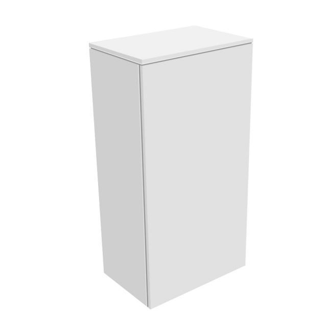 Keuco Edition 400 Mittelschrank mit 1 Tür und 1 Regal Front: weiß struktur / Korpus: weiß struktur