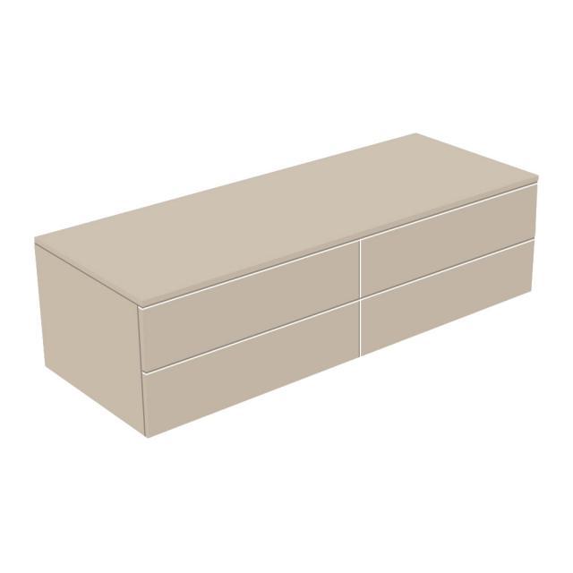 Keuco Edition 400 Sideboard mit 4 Auszügen Front cashmere struktur / Korpus cashmere struktur