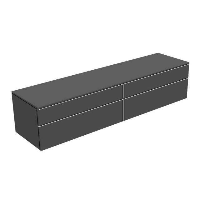Keuco Edition 400 Sideboard mit 4 Auszügen Front anthrazit struktur / Korpus anthrazit struktur