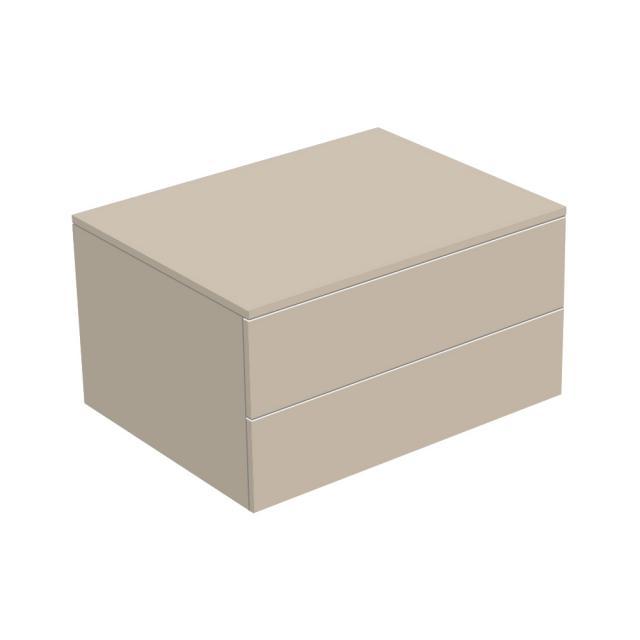 Keuco Edition 400 Sideboard mit 2 Auszügen Front cashmere struktur / Korpus cashmere struktur