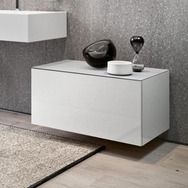 Keuco Edition 90 Sideboard mit 1 Auszug Front weiß hochglanz / Korpus weiß hochglanz