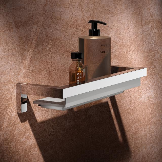 Keuco Edition 90 Square Duschablage mit Glasabzieher