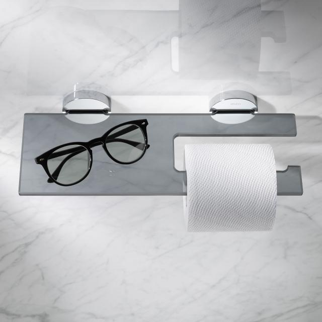Keuco Edition 90 Toilettenpapierhalter mit Glasablage