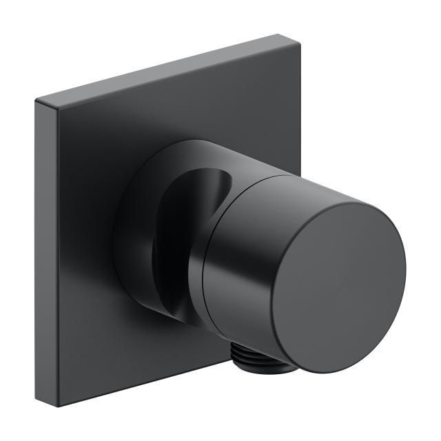 Keuco IXMO 2-Wege Ab- und Umstellventil mit Schlauchanschluss und Brausehalter schwarz chrom gebürstet