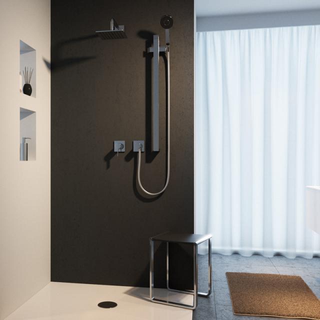 Keuco IXMO Duschsystem, mit Einhebelmischer IXMO & Brause-Set Edition 11, eckig