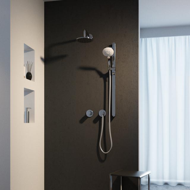 Keuco IXMO Duschsystem, mit Thermostat IXMO Pure & Brause-Set Edition 400, rund
