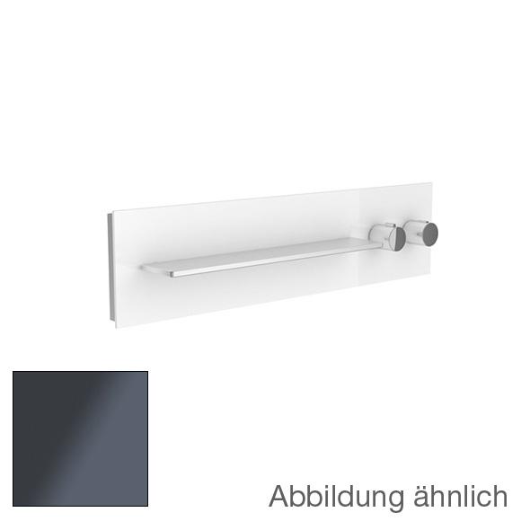 Keuco meTime_spa Thermostatbatterie, für 1 Verbraucher, Griffe rechts, Ablage links Glas anthrazit