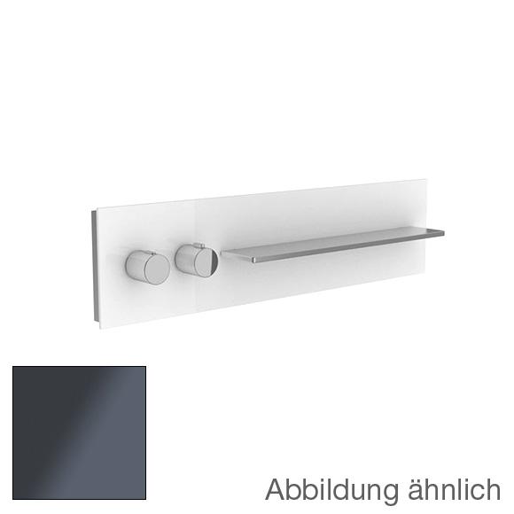 Keuco meTime_spa Thermostatbatterie DN 20, für 2 Verbraucher, Griffe links, Ablage rechts Glas anthrazit