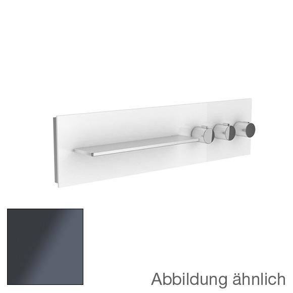 Keuco meTime_spa Thermostatbatterie, für 3 Verbraucher, Griffe rechts, Ablage links Glas anthrazit