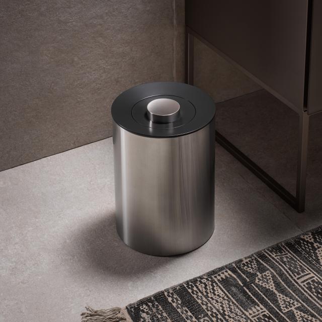 Keuco Plan Abfallbehälter edelstahl poliert/schwarzgrau