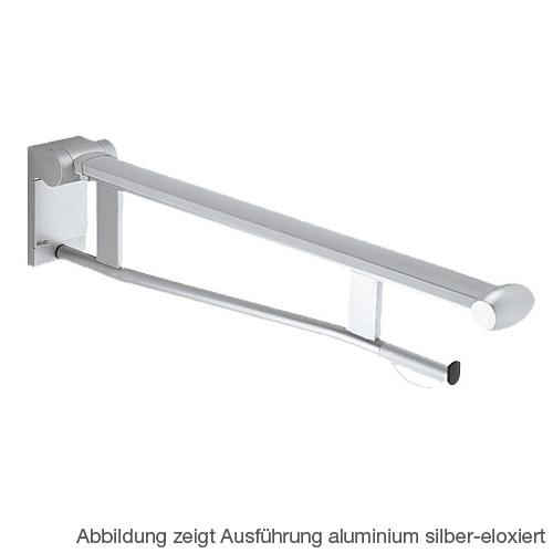 Keuco Plan Care Stützklappgriff WC, klappbar chrom/lichtgrau, Ausladung: 700 mm