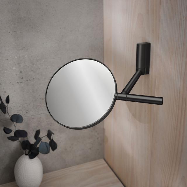 Keuco Plan Kosmetikspiegel schwarz matt