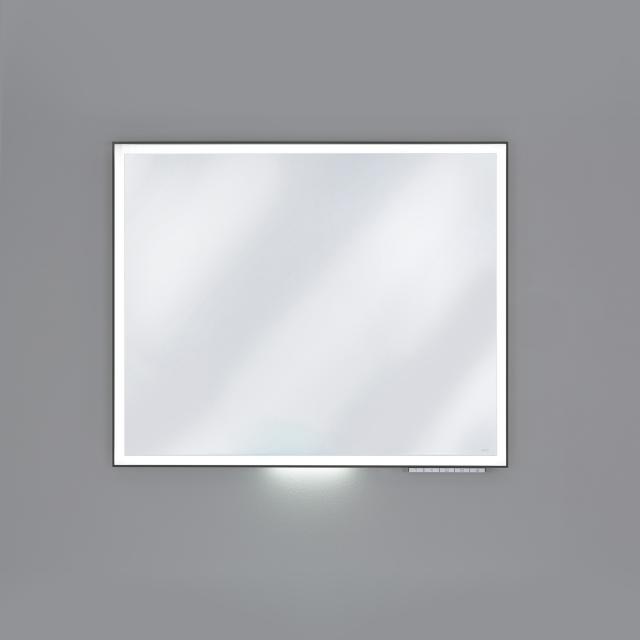 Keuco Royal Lumos Spiegel mit DALI-LED-Beleuchtung schwarz eloxiert, ohne Spiegelheizung