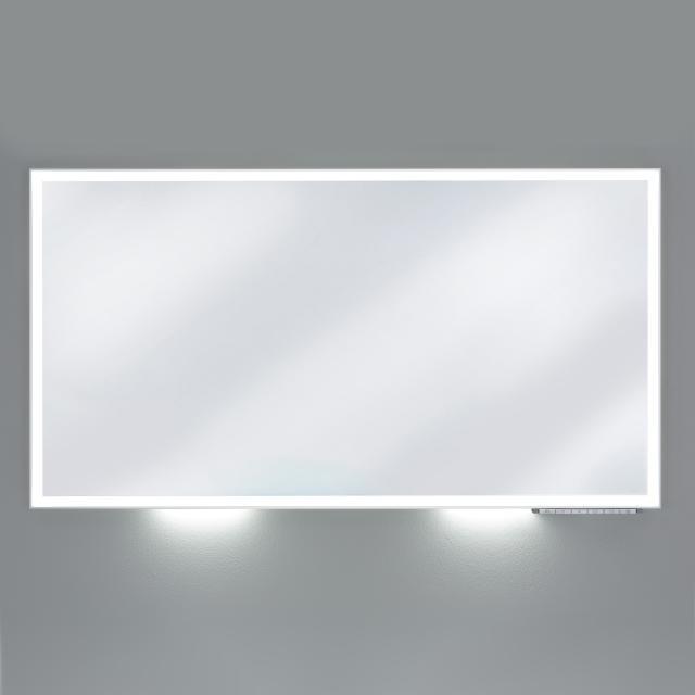 Keuco Royal Lumos Spiegel mit LED-Beleuchtung silber eloxiert, mit Spiegelheizung