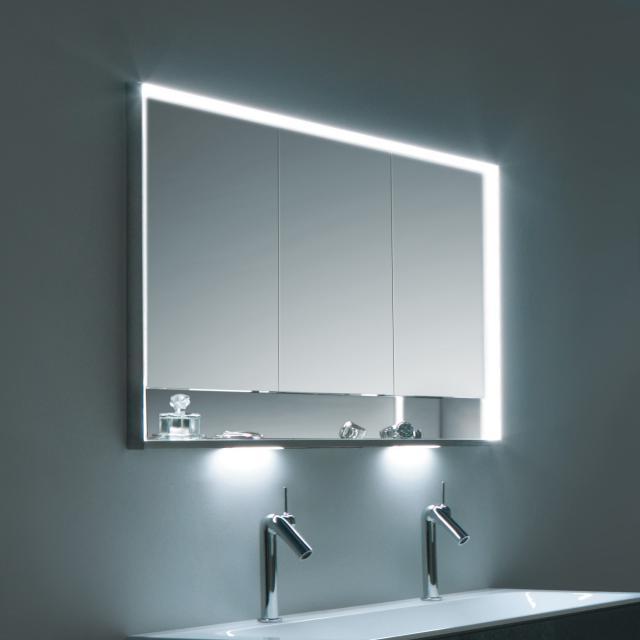 Keuco Royal Lumos Unterputz Spiegelschrank mit DALI-LED-Beleuchtung mit 3 Türen
